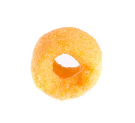 cheesy: cheesy ring isolated on white background