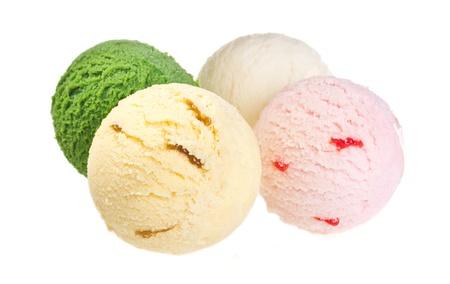 Ice cream isolated on white background 免版税图像