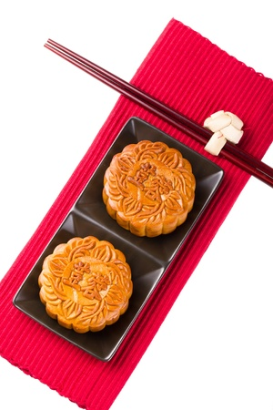 middle eastern food: Chinese Mooncake Stock Photo