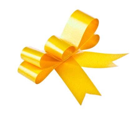 Yellow bow isolated on white background Stock Photo - 15957675