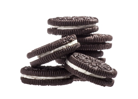 Chocolate cookies with creme filing