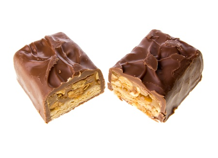 chocolate bar with caramel photo