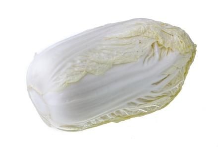 Chinese cabbage isolated on white background photo