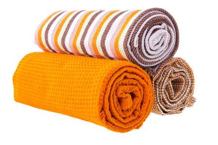 dishtowel: Kitchen towel isolated on white background