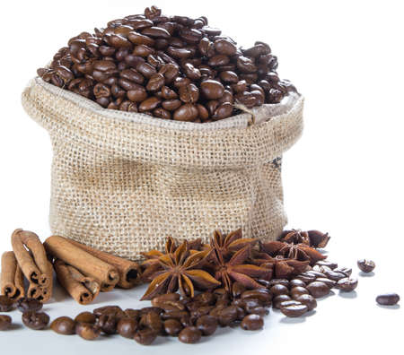 Coffee Ingredient on whit background photo