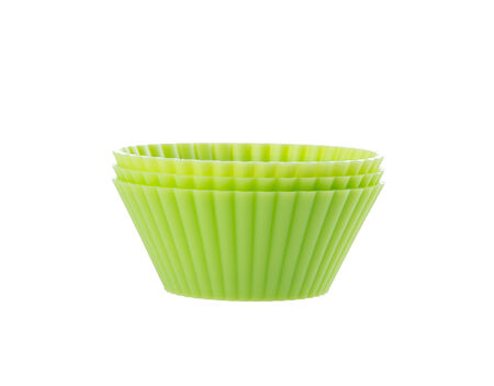 cupcake liners isolated on white background photo