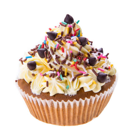 cupcakes isolated: Cupcake isolated on white background
