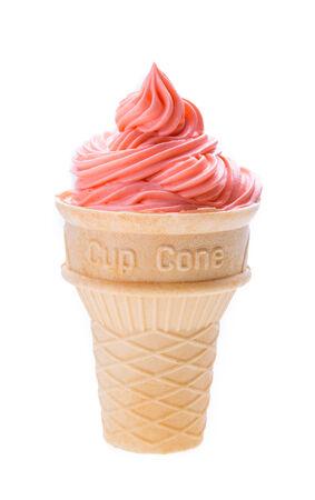 ice cream isolated on white background photo