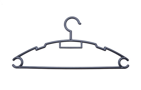 Cloth hanger isolated on white background photo