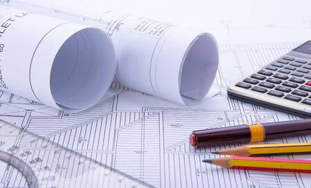 drafting: Concept of drawing. Blueprints and drafting tools.