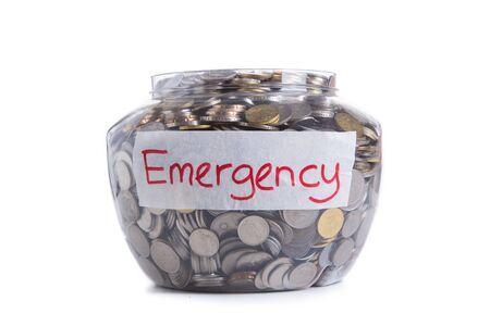 retirement savings: Retirement savings money in jar Stock Photo