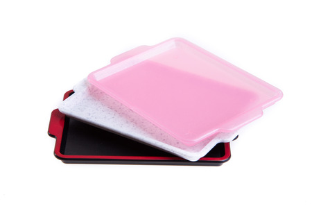 cafeteria tray: trays isolated on the background