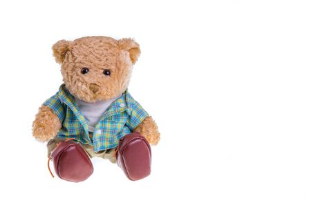 teddy: teddy bears isolated on white background Stock Photo