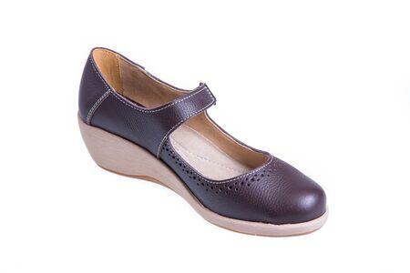girl soles: female shoes isolated on white background Stock Photo