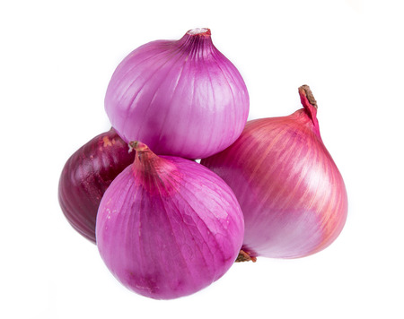 onion peel: red onion isolated on white background
