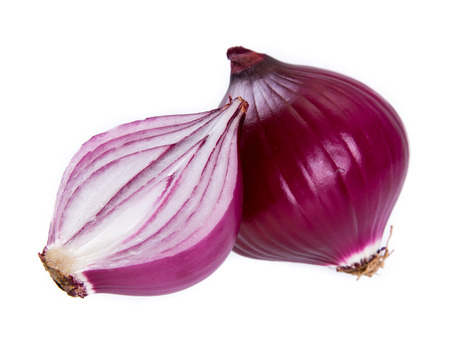 onion: red onion isolated on white background