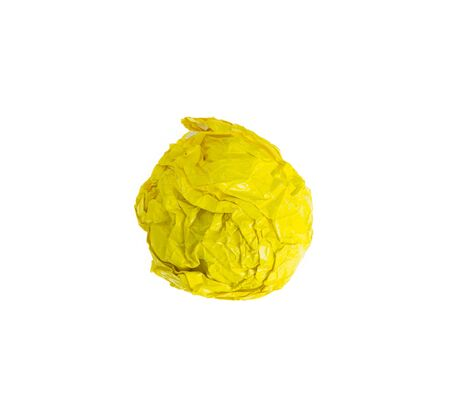 rumple: crumpled color paper ball isolated on white background