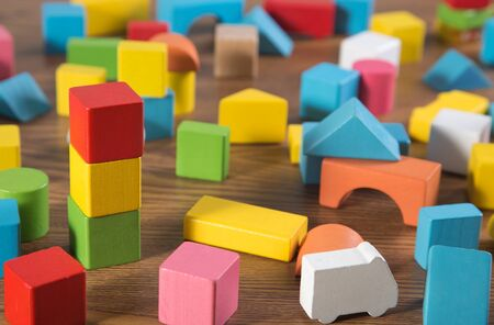 sorted: Sorted wooden toy Block Background