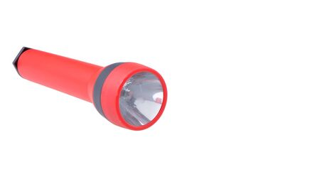 Red Flash Light isolated on white background