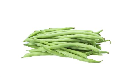 haricot: long bean isolated on white background