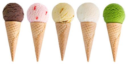 ice cream isolated on white background 스톡 콘텐츠