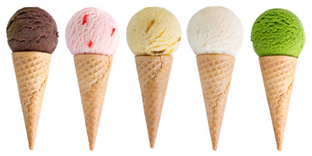 ice cream isolated on white background Archivio Fotografico