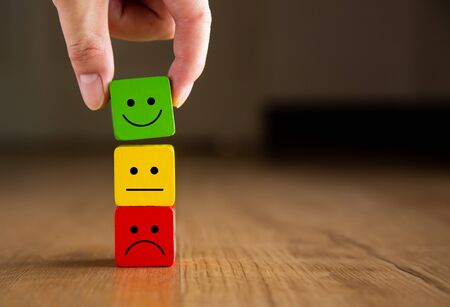 Customer service evaluation and satisfaction survey concepts.