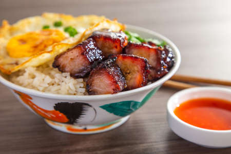 Chinese Sweet Bbq Pork is marinated in a sweet BBQ sauce and then roasted.