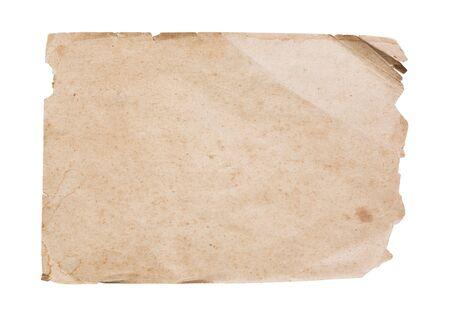 white sheet: Vintage paper sheet isolated on white background