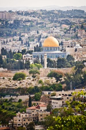 sity: Dome of the Rock. The Old Sity of Jerusalem. Stock Photo