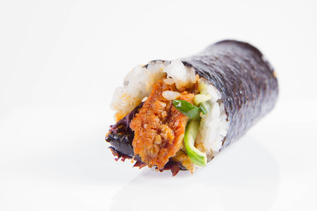 Sushi roll - japanese food isolated on white background