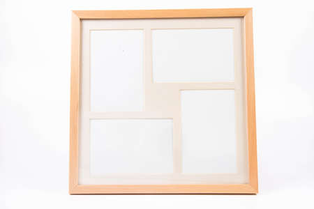 Blank picture frame on a white background