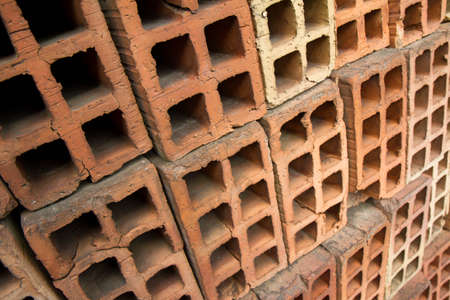 Load of bricks at the construction site Banque d'images