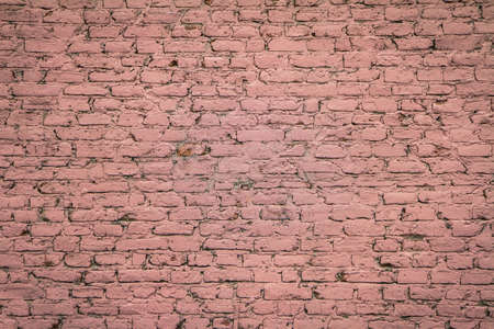 Background: Brick wall covered in pink paint
