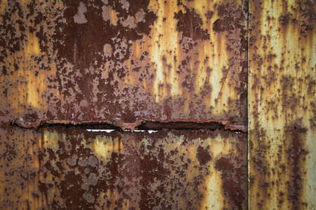 Background: Rusty and weathered metal texture