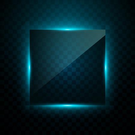 Square Blue light effect 向量圖像