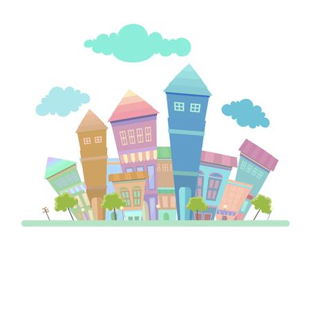 Town background design