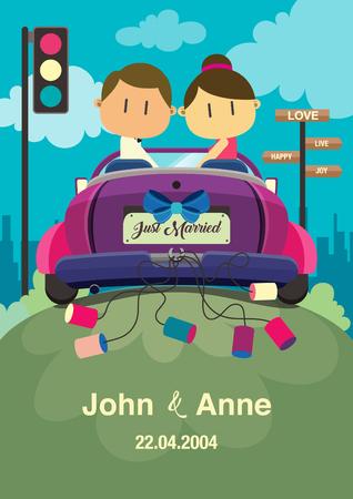 Cute couple on the car