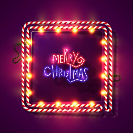 Christmas neon design