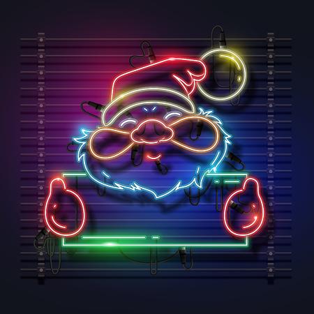 Santa Claus neon design