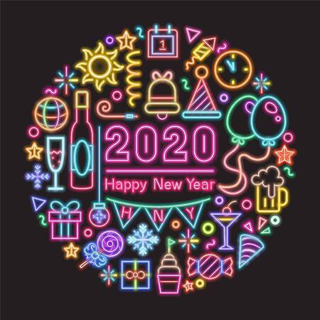 2020 Neon banner design