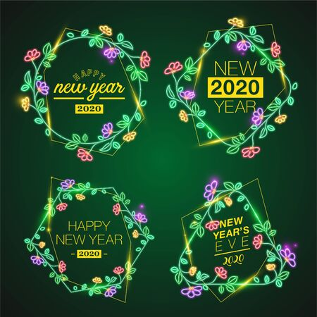 Vector of New Year banner template. 2020
