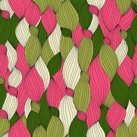 seamless pattern from color hair and lines