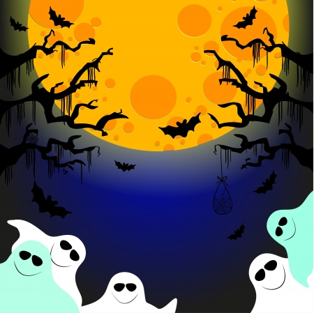 five friendly ghosts Stock Vector - 15920575