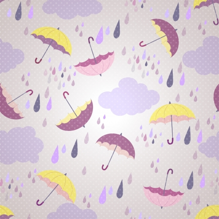 seamless pattern with umbrellas photo