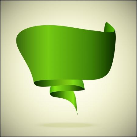 banner for the text green Иллюстрация