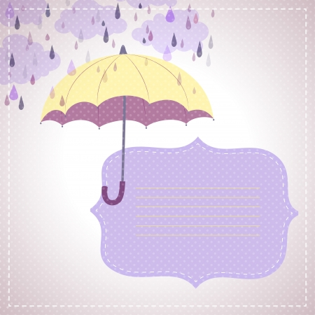 yellow umbrella: background for messages with a yellow umbrella