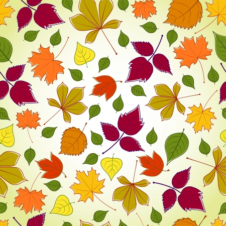 seamless pattern with violet leaves Vector