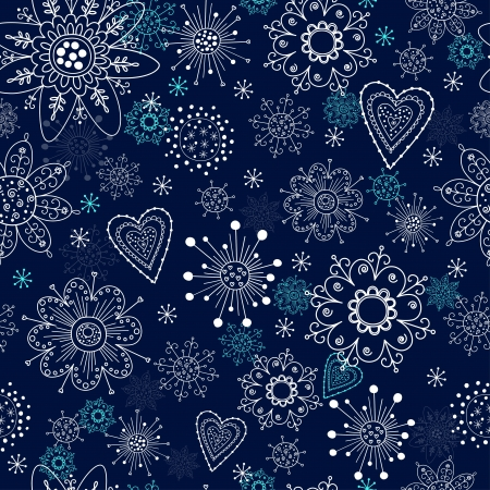blue seamless background with snowflakes