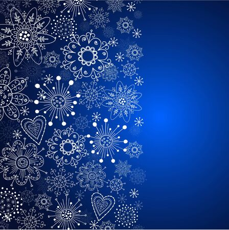 cristmas: blue vertical cristmas background Illustration